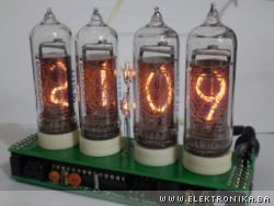 Warm Tube Clock v2 - Nixie Clock with 4 tubes