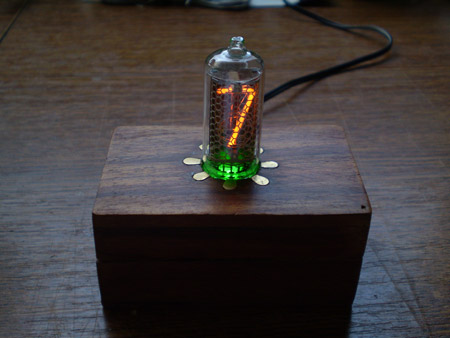 IN-8 single nixie tube clock - Elektronika ba