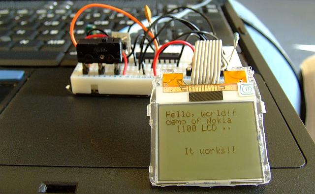 Nokia 1100 LCD with PIC microcontroller - Elektronika ba