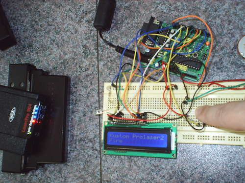 LIDAR gun tester with Arduino - Elektronika ba