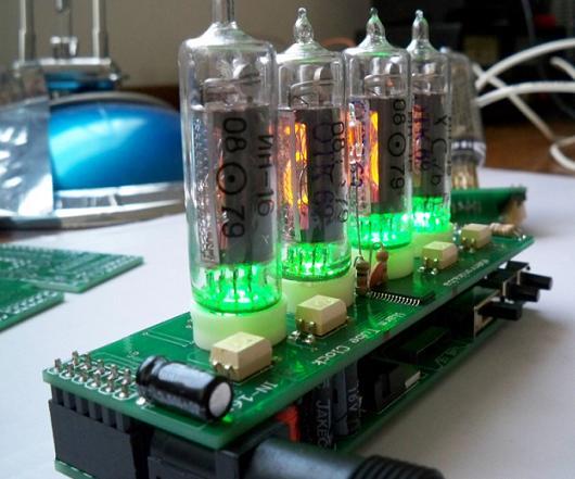 Warm Tube Clock v1 - Nixie Clock - Elektronika ba