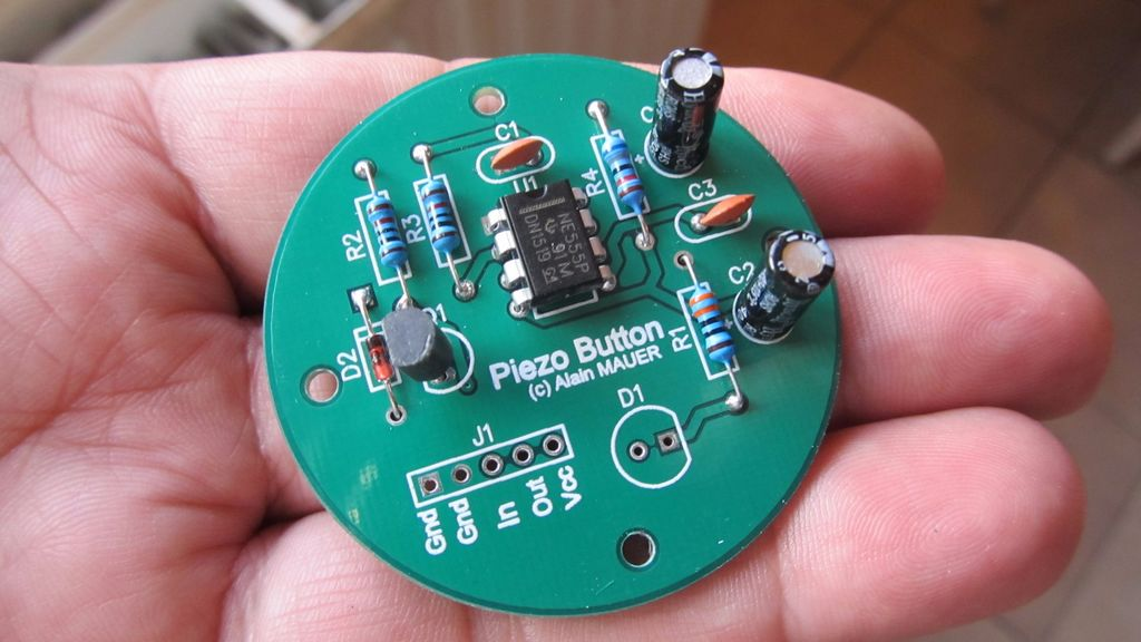 piezo sensor as tactile switch