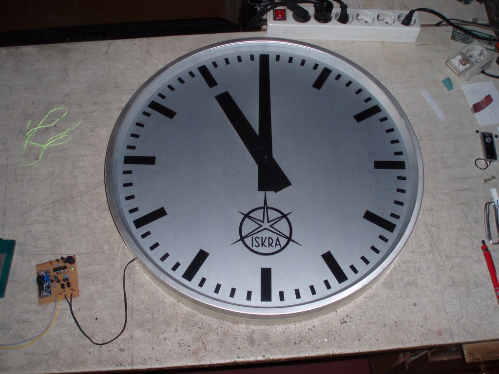 Master Clock Driver For Antique Slave Clocks Timer From Old Quartz Electronics You P5040017