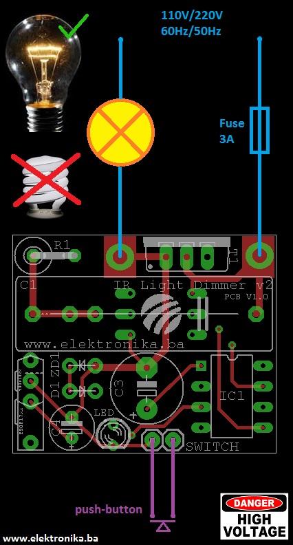IR light dimmer v2 - Elektronika ba